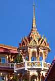 Roof of Wat Suwan Khirikhet buddist themple in Phuket Royalty Free Stock Photos