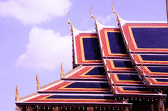 Roof of wat. In thailand Stock Photo