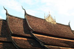 Roof of Wat xiangthong Stock Photography