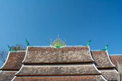 Roof of Wat Xieng thong Royalty Free Stock Images