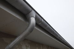 Roof and water pipe Royalty Free Stock Photography