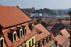 Roof way in Miessen. This is view from air to roofs in Miessen Royalty Free Stock Image
