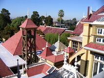 Roof - Winchester House. The roof of Winchester House, San Jose, California stock photo