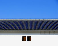 Roof and window. Japanese old castle's roof and windows Stock Images