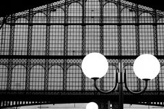 Roof window and lantern Paris Gare du Nord train station France Stock Photography