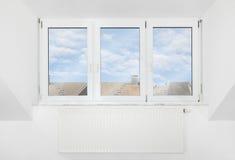 Roof window. Mansard apartment loft roof window Royalty Free Stock Image