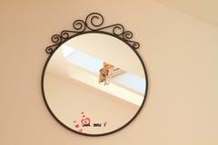 Roof window in mirror stock image
