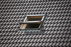 Roof window and pattern Royalty Free Stock Images