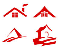 Roof with window vector Royalty Free Stock Photos
