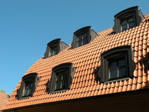 Roof with windows Stock Photography