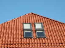 Roof with windows Royalty Free Stock Photo