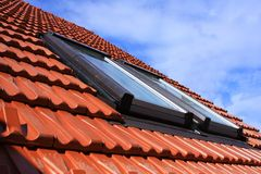 Roof windows Stock Images