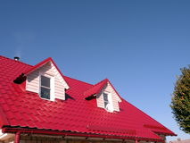 Roof with windows Stock Images