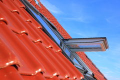 Roof windows Royalty Free Stock Image