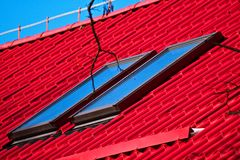 Roof and windows Royalty Free Stock Photo