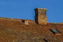 Roof and windows Royalty Free Stock Images