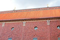 Roof and windows of the building of a City Hall Stock Photography