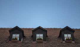 Roof windows Stock Photography
