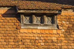 Roof and windows Royalty Free Stock Photos