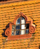 Roof and windows Stock Images