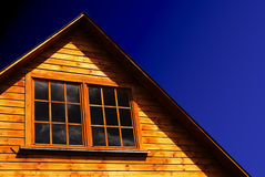 Roof of wooden house Royalty Free Stock Photos