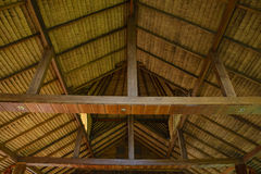 Roof of wooden house Royalty Free Stock Images