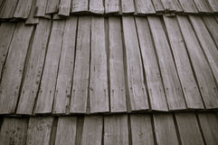 Roof from wooden laths Royalty Free Stock Photo