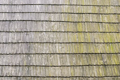 Roof wooden shingle texture Stock Photography