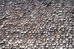 Roof with wooden shingles Stock Photography