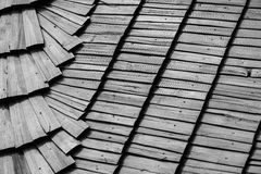 Roof wooden tile Stock Images
