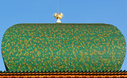 Roof of Wooden Tiles with Attribute of Power Stock Image