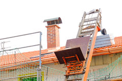Roof work stock photo