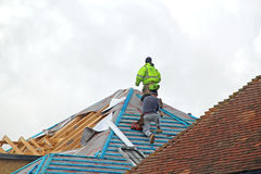 Roof Work Royalty Free Stock Image