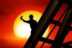 Roof worker Royalty Free Stock Image
