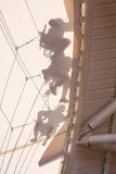 Roof workers Stock Images