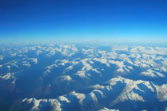 Roof of the World. Aerial View of the Alps stock photo