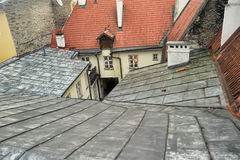 Roof yard well Royalty Free Stock Image