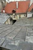 Roof yard well Stock Photo