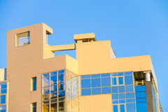 Roof of the yellow building in Yekaterinburg Royalty Free Stock Photo