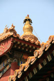 Roof - Yonghe Temple - Beijing - China Royalty Free Stock Image