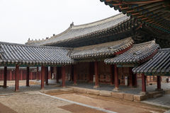 Roofed corridor in Changgyeonggung. Royalty Free Stock Photography
