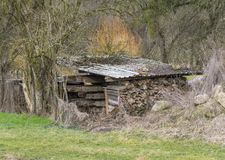 Roofed fuelwood Royalty Free Stock Photos