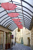 Roofed lane of a pedestrian area Royalty Free Stock Photo
