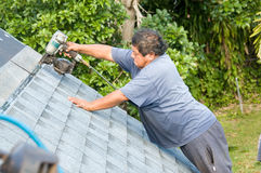 Roofer Royalty Free Stock Image