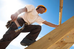 Roofer royalty free stock photos