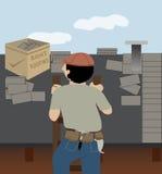 Roofer stock illustratie