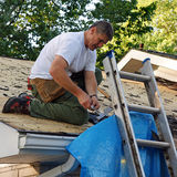 Roofer Stock Photo