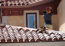 Roofer de Beverly Hills Images stock