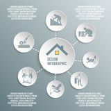 Roofer paper infographic Stock Images