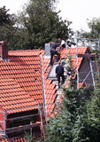 roofer pracy Obrazy Royalty Free